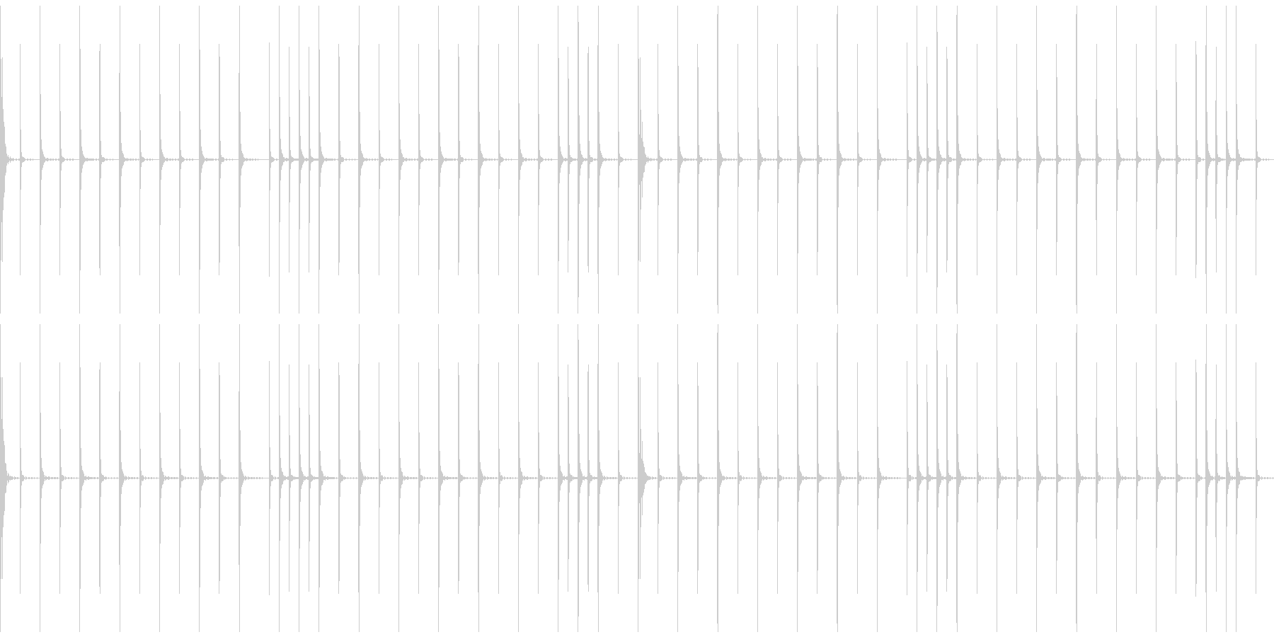 コミカルなシンキングタイム音の未再生の波形