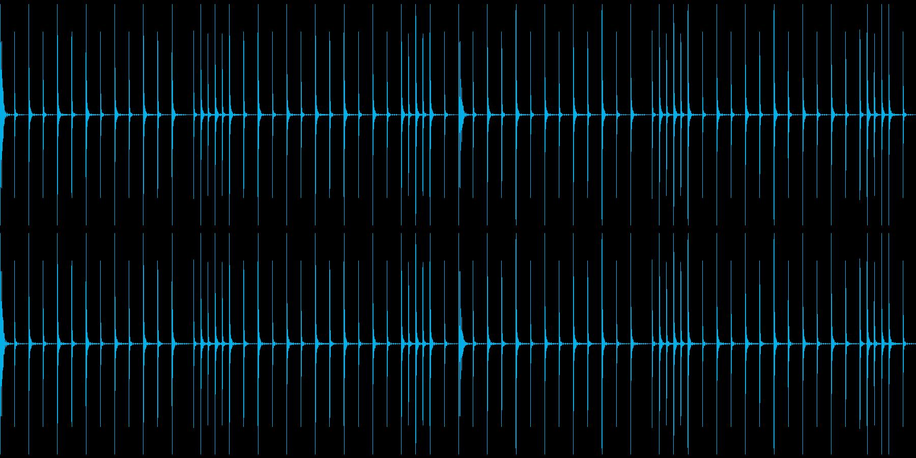 コミカルなシンキングタイム音の再生済みの波形