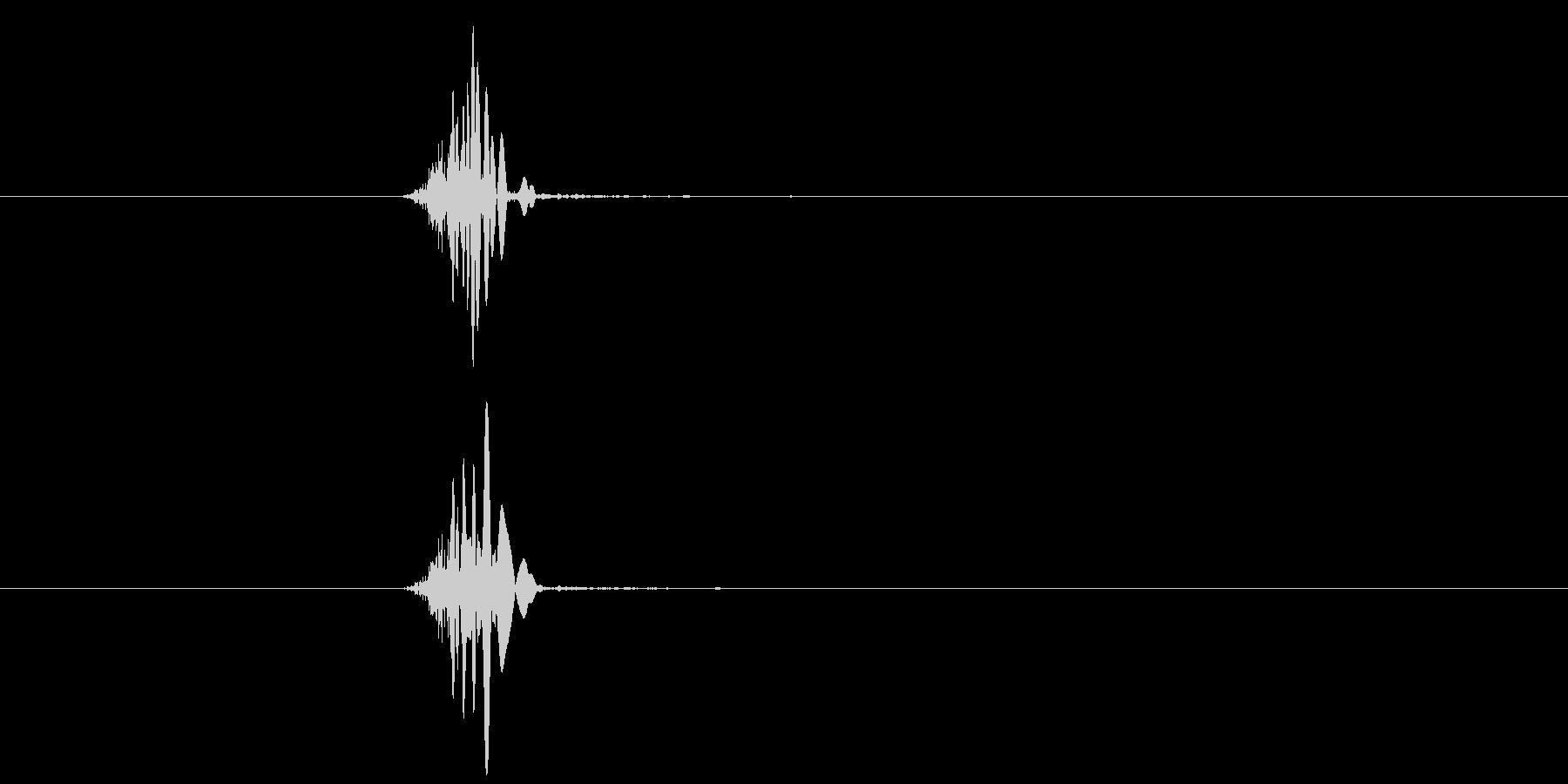 空振り、風切り音2の未再生の波形