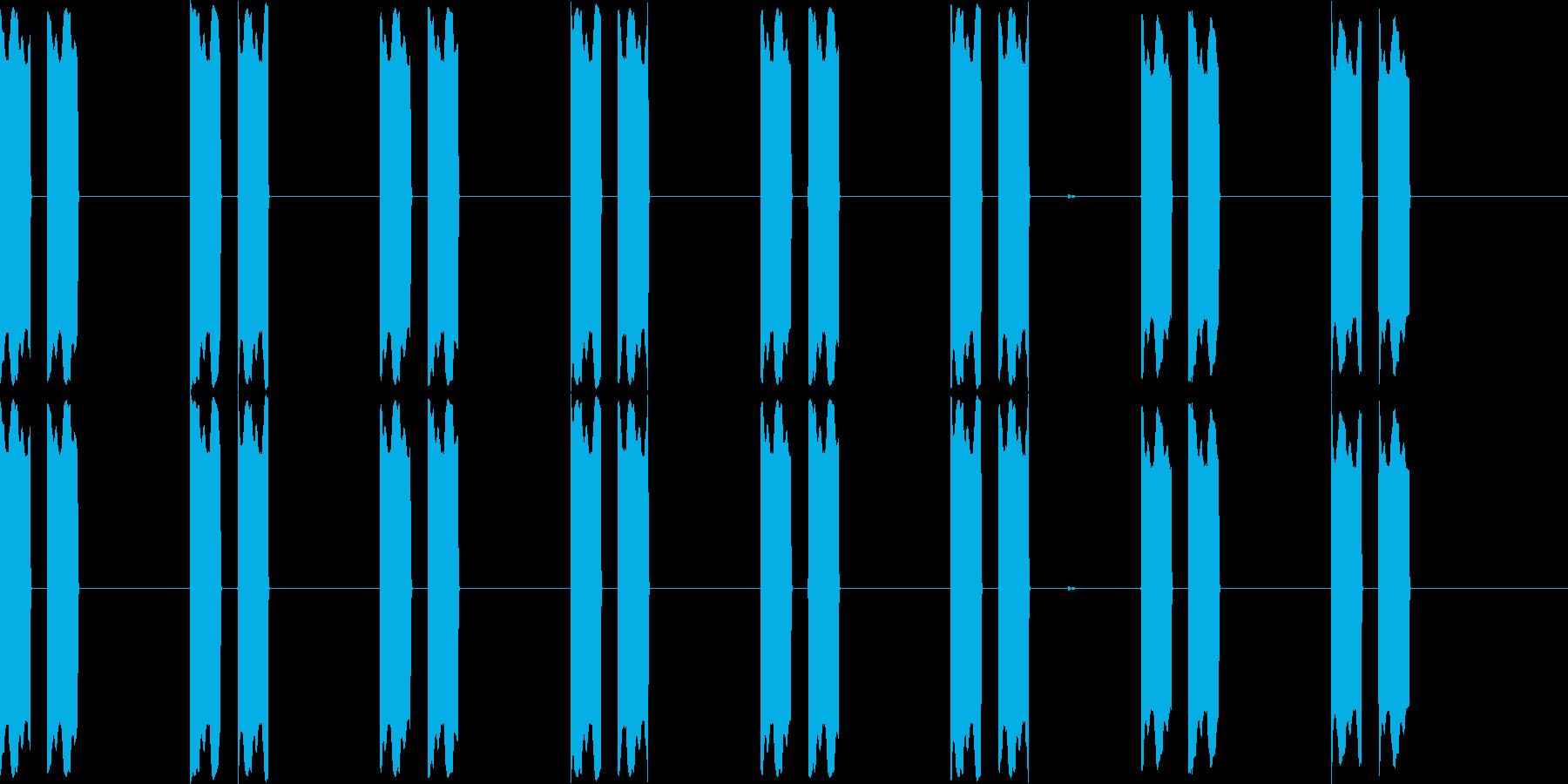 ピーピー(電子音、機械音)の再生済みの波形
