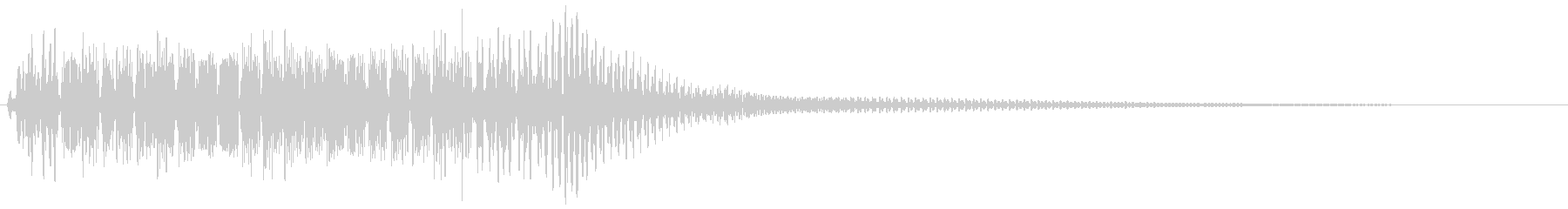 ビニョン。はね返る・踏みつける音(高)の未再生の波形