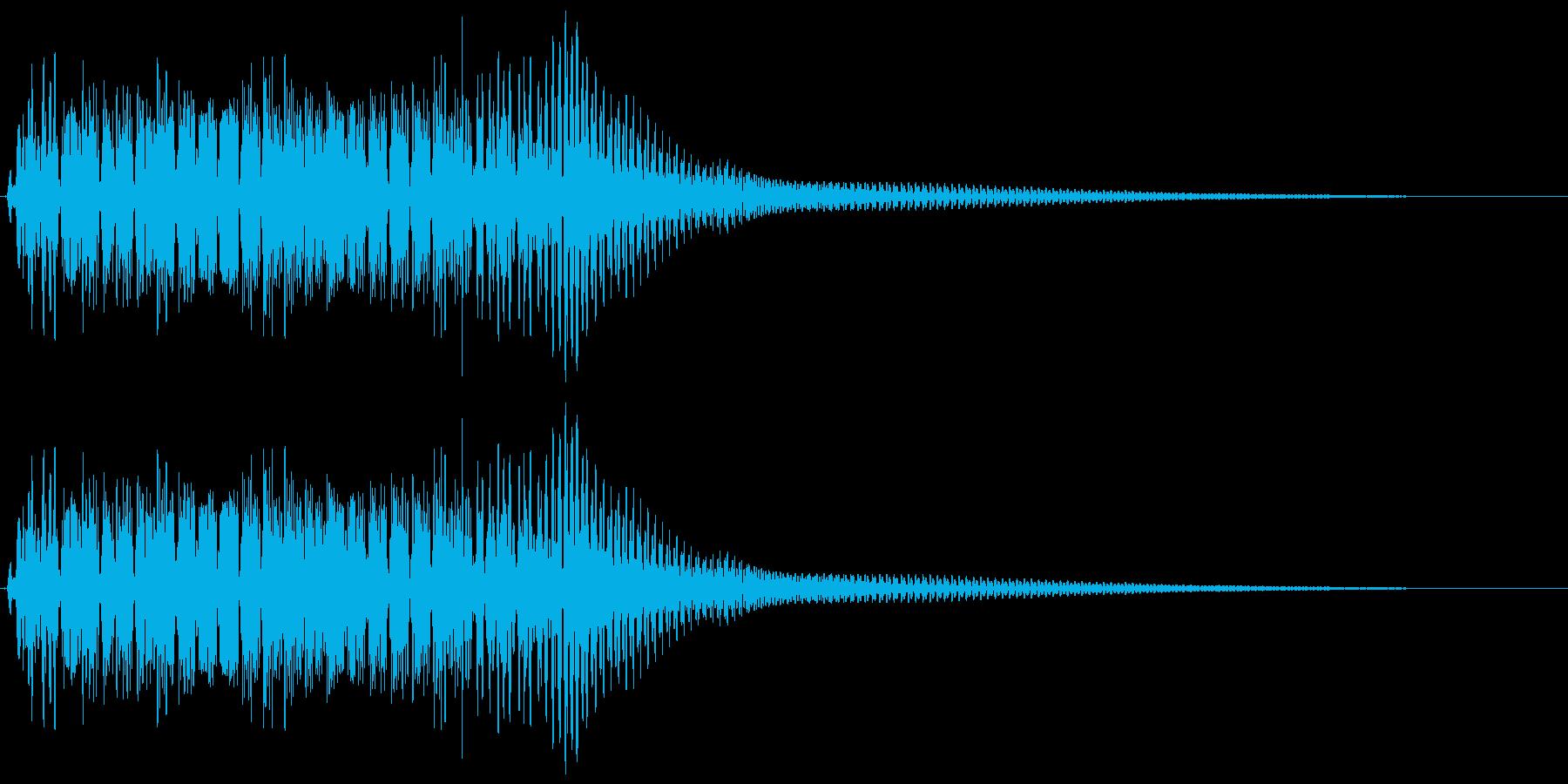 ビニョン。はね返る・踏みつける音(高)の再生済みの波形