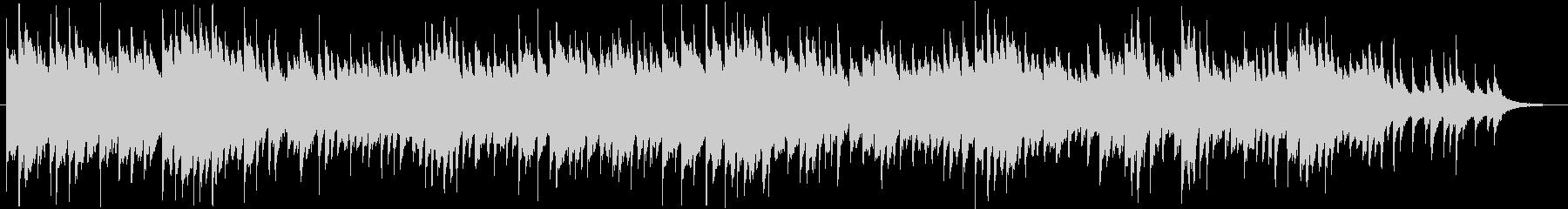 シンプルでアンビエントなピアノ曲の未再生の波形