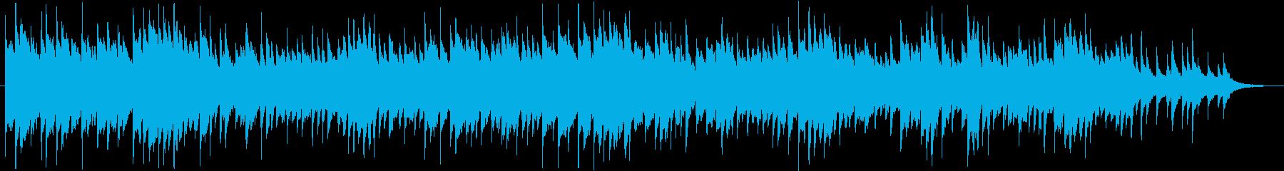 シンプルでアンビエントなピアノ曲の再生済みの波形