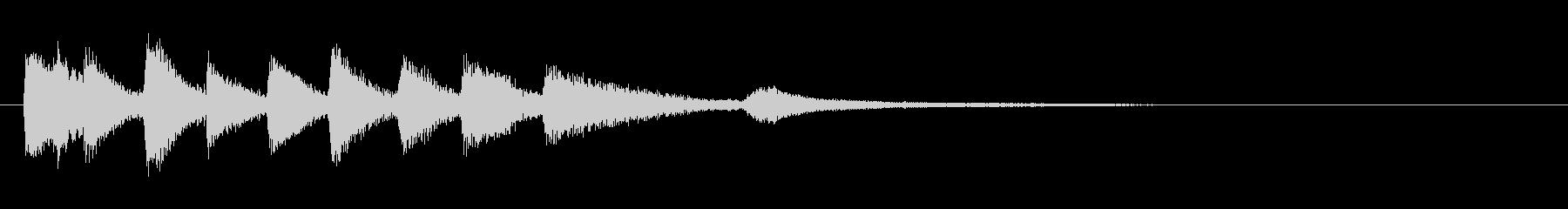 ピアノの明るいジングル・場面転換の未再生の波形