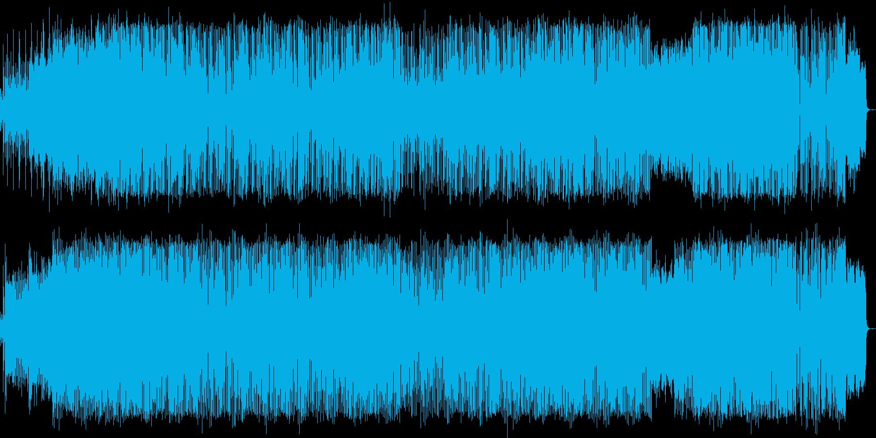 ピアノとシンセがメインのハウス風BGMの再生済みの波形