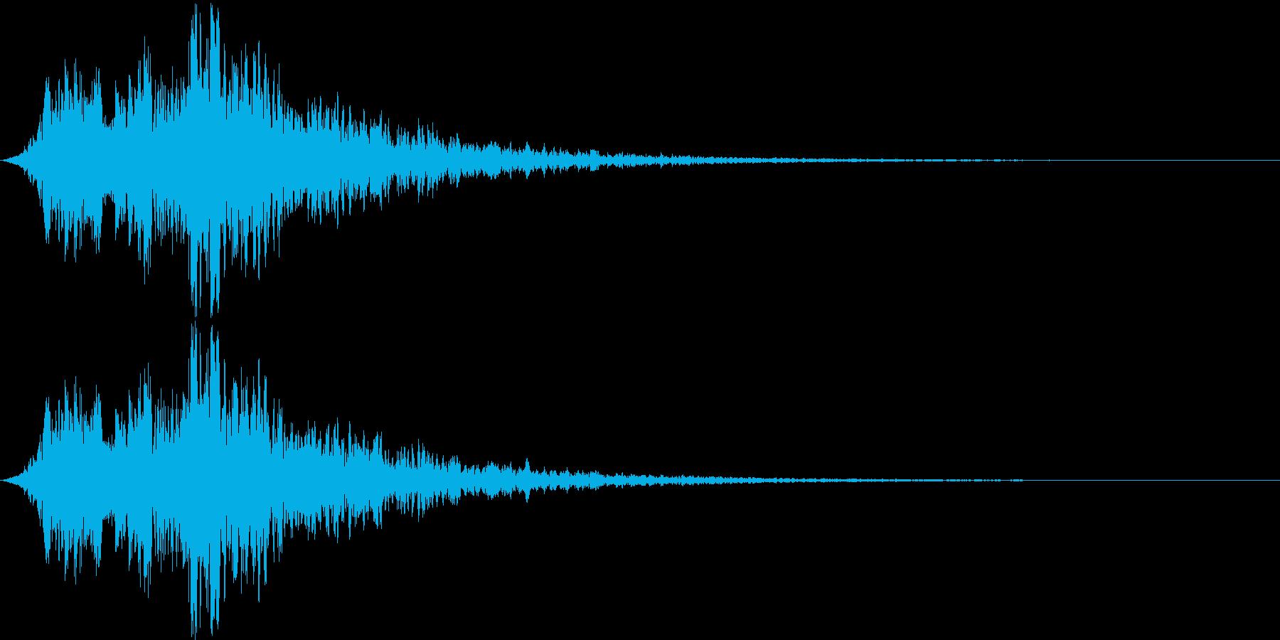 光魔法バリアピピピーンの再生済みの波形
