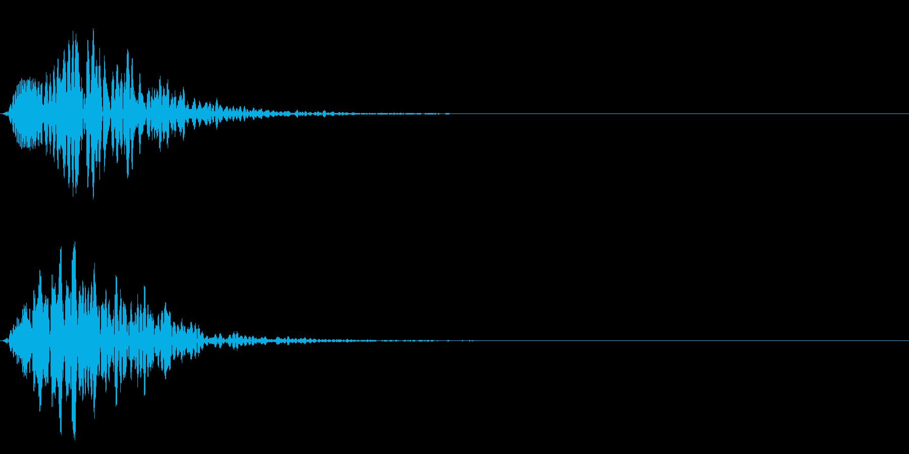 ポワ♪可愛い選択音、決定音、テロップ!2の再生済みの波形