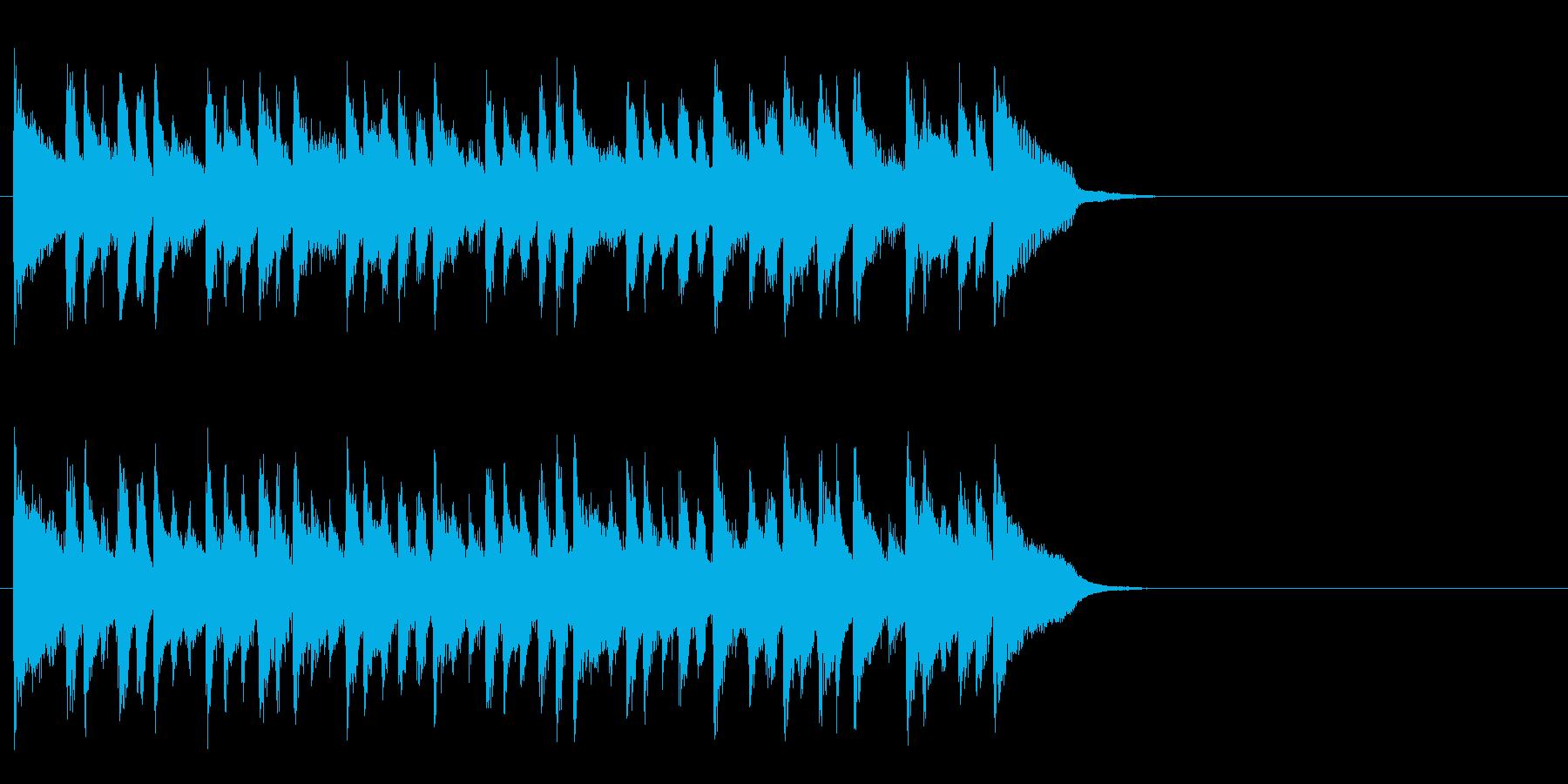 安らぐソフトなポップ(サビ)の再生済みの波形