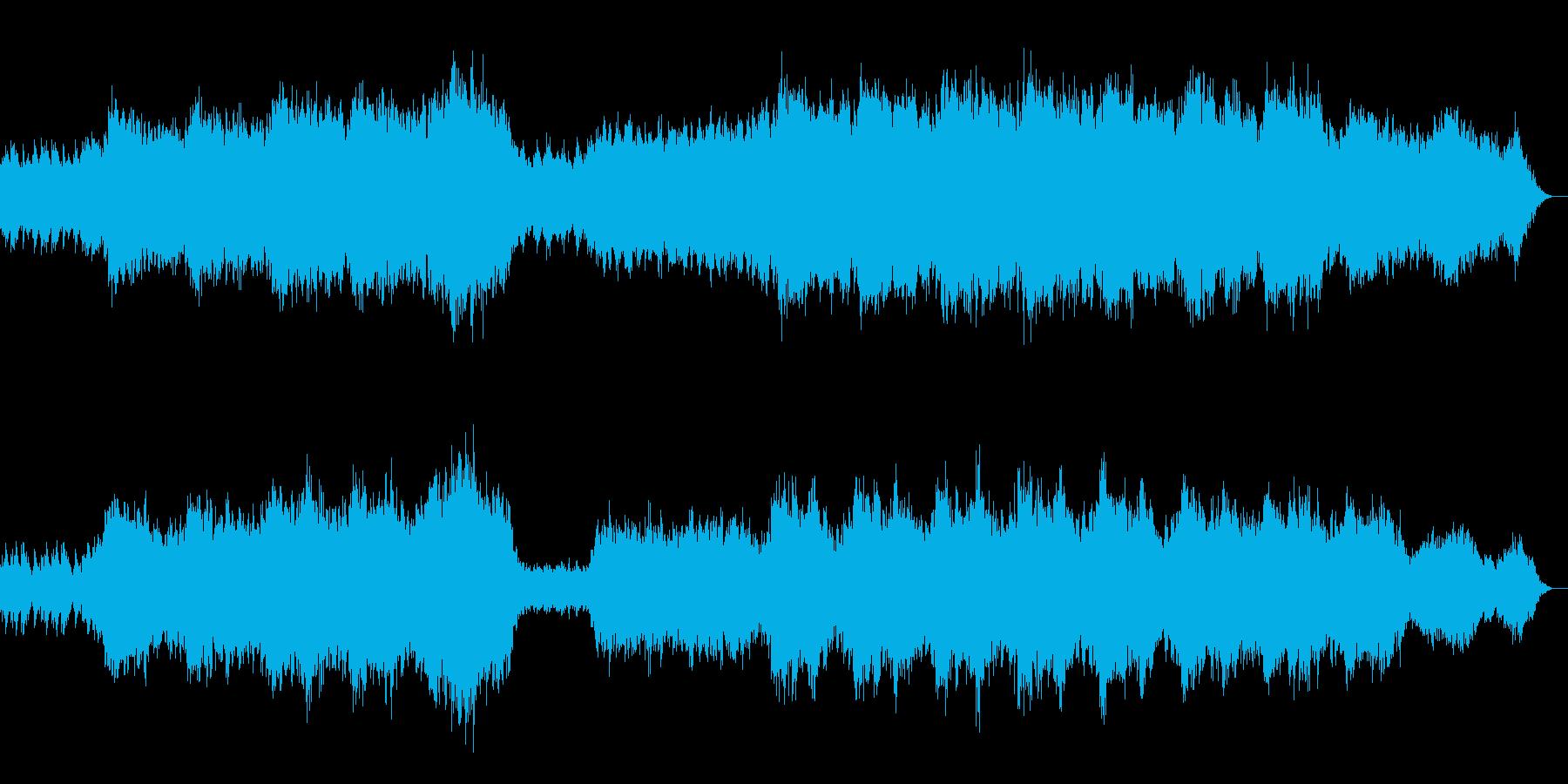 キラキラ輝きながら流れる川のイメージの再生済みの波形