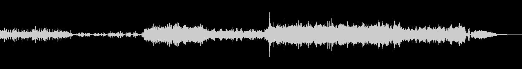ピアノと弦楽器の和風で切ない映像用BGMの未再生の波形
