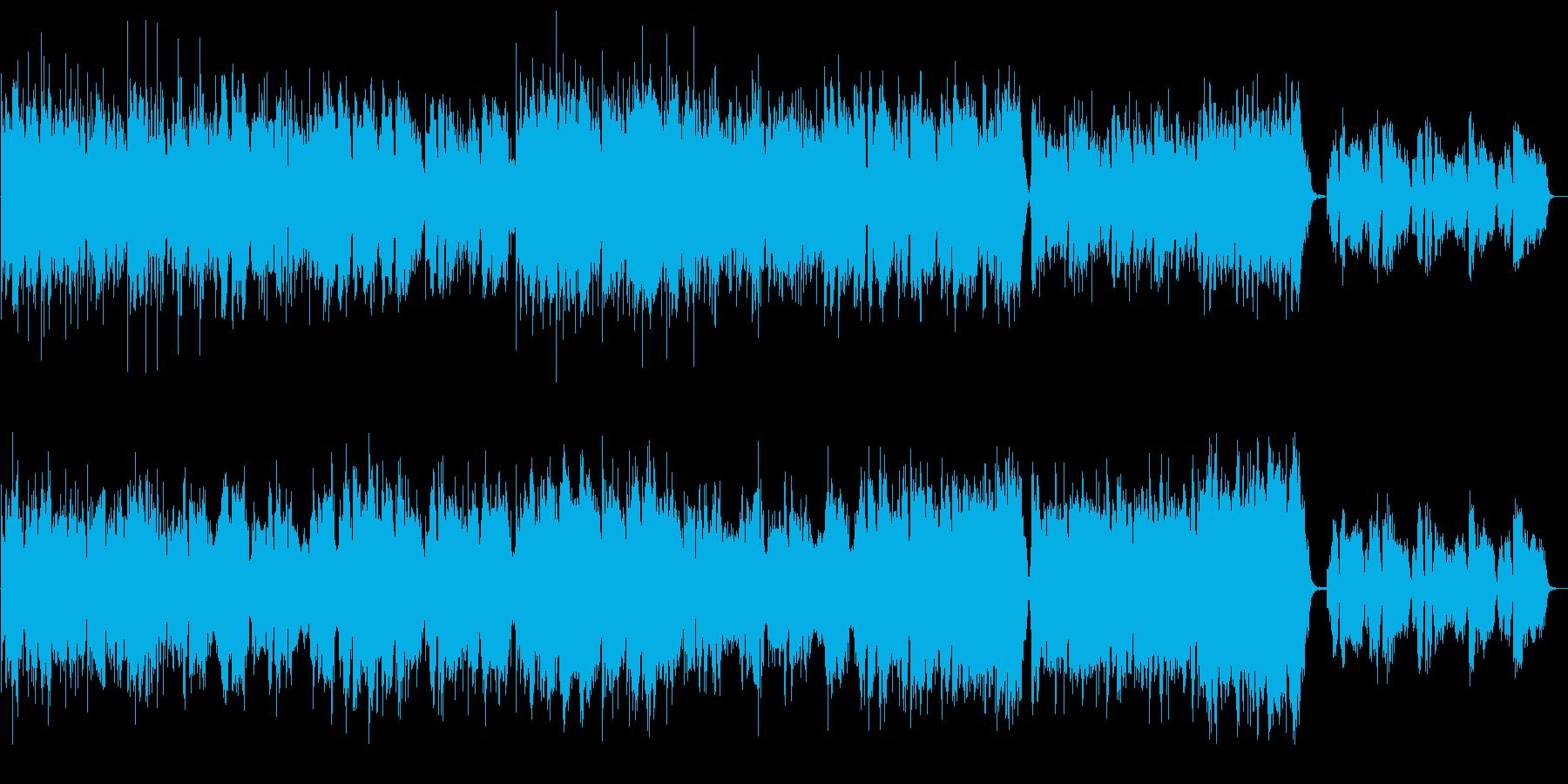 CM販売促進・企業VP向け明るい癒し系歌の再生済みの波形