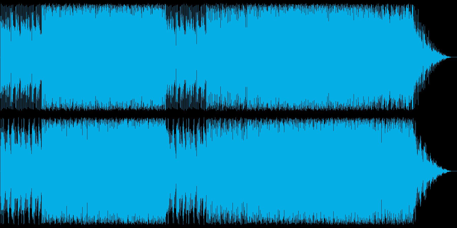 穏やかでリズミカルなシンセポップスの再生済みの波形