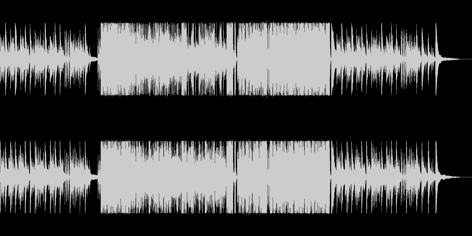 ピアノとカホンによるテンポ速めの激しい曲の未再生の波形