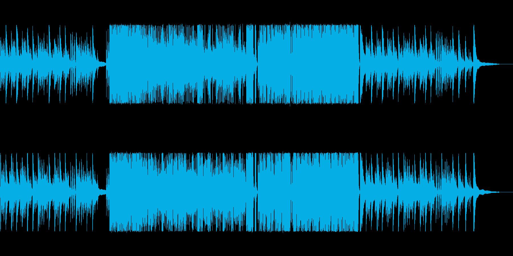 ピアノとカホンによるテンポ速めの激しい曲の再生済みの波形
