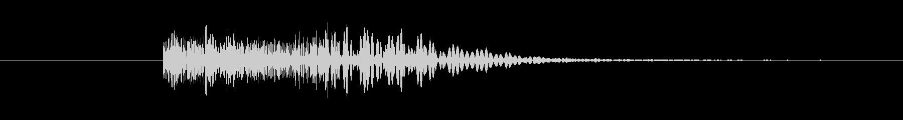 ヘヴィメタ風 ブリッジミュート音の未再生の波形