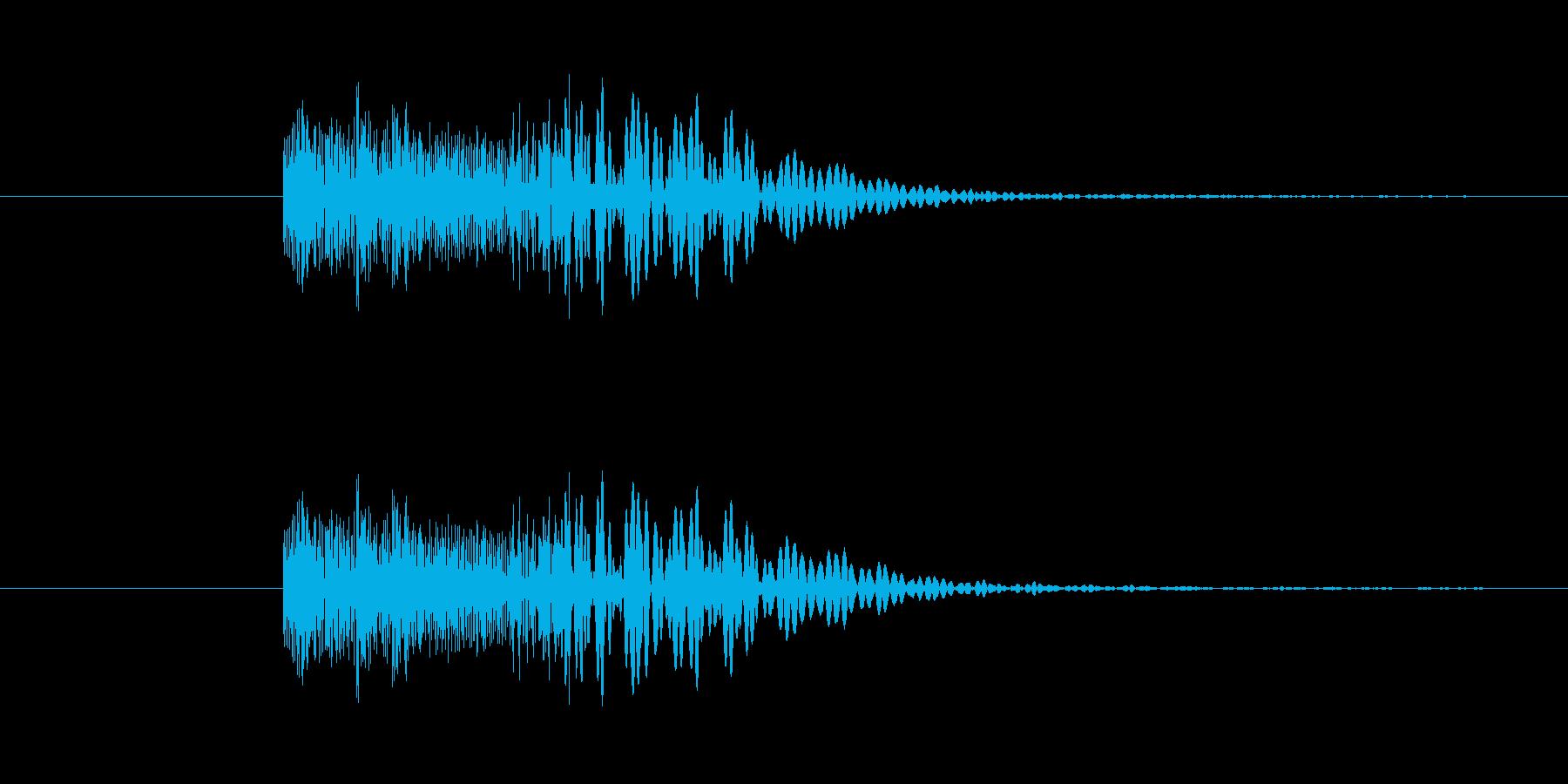 ヘヴィメタ風 ブリッジミュート音の再生済みの波形