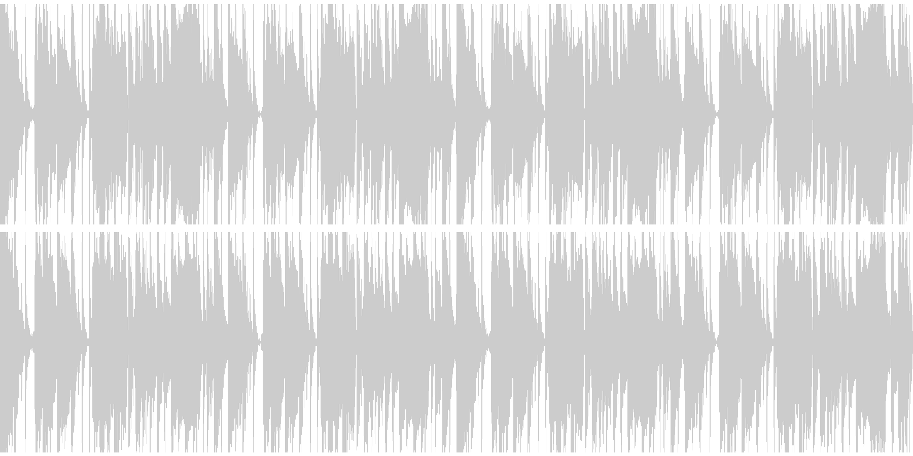 bpm140 ループ仕様の未再生の波形