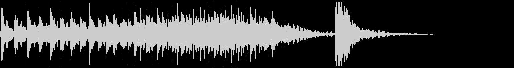 ドコドコ…ドドン!和太鼓ロール/ミドル1の未再生の波形
