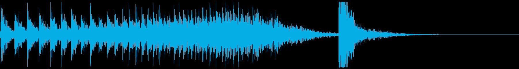 ドコドコ…ドドン!和太鼓ロール/ミドル1の再生済みの波形