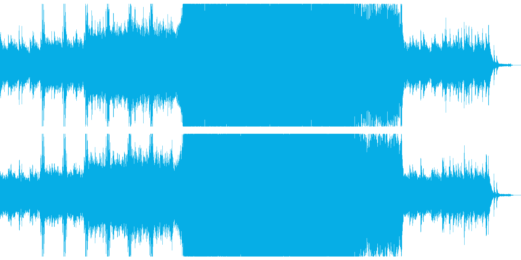 幻想的で感動的なシネマティク。の再生済みの波形
