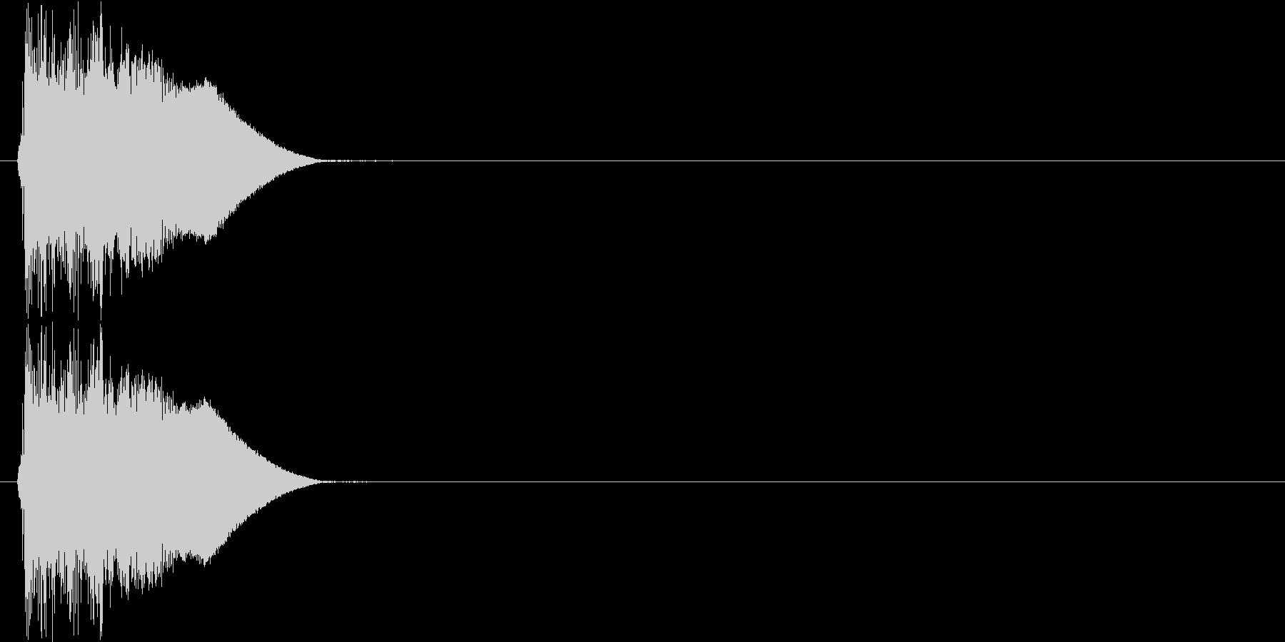 ジャキン(決定音、斬撃)の未再生の波形
