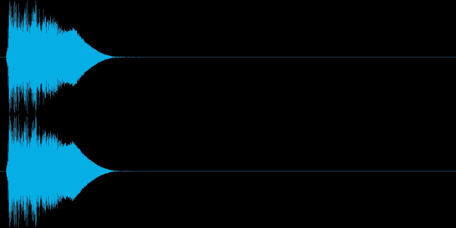 ジャキン(決定音、斬撃)の再生済みの波形
