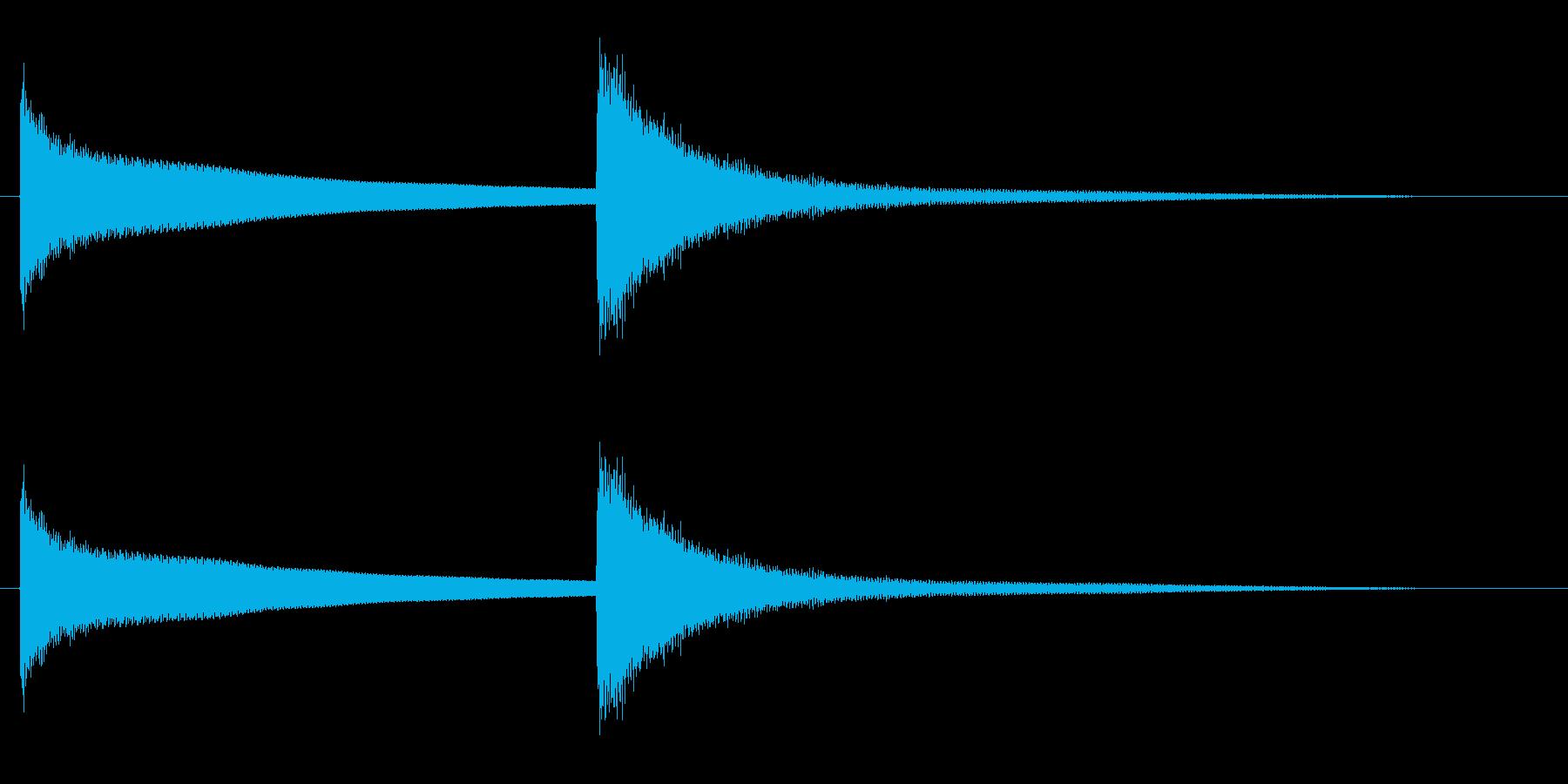 キンコンという高い金属音の再生済みの波形