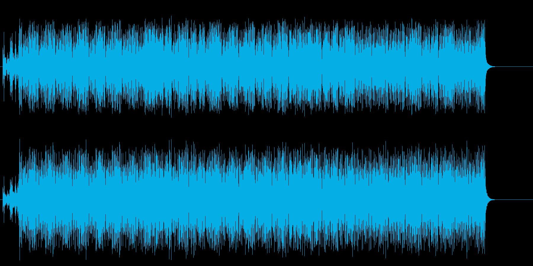 散歩を待ちきれない子犬をイメージさせる曲の再生済みの波形