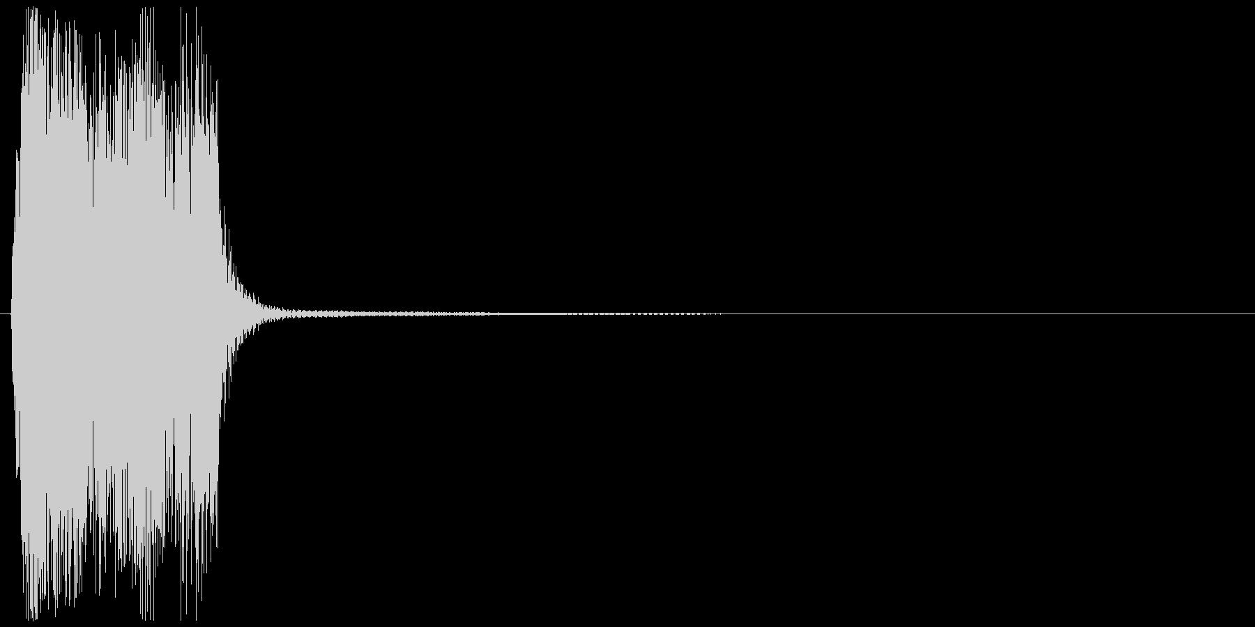パーッ(クラクション、車)の未再生の波形