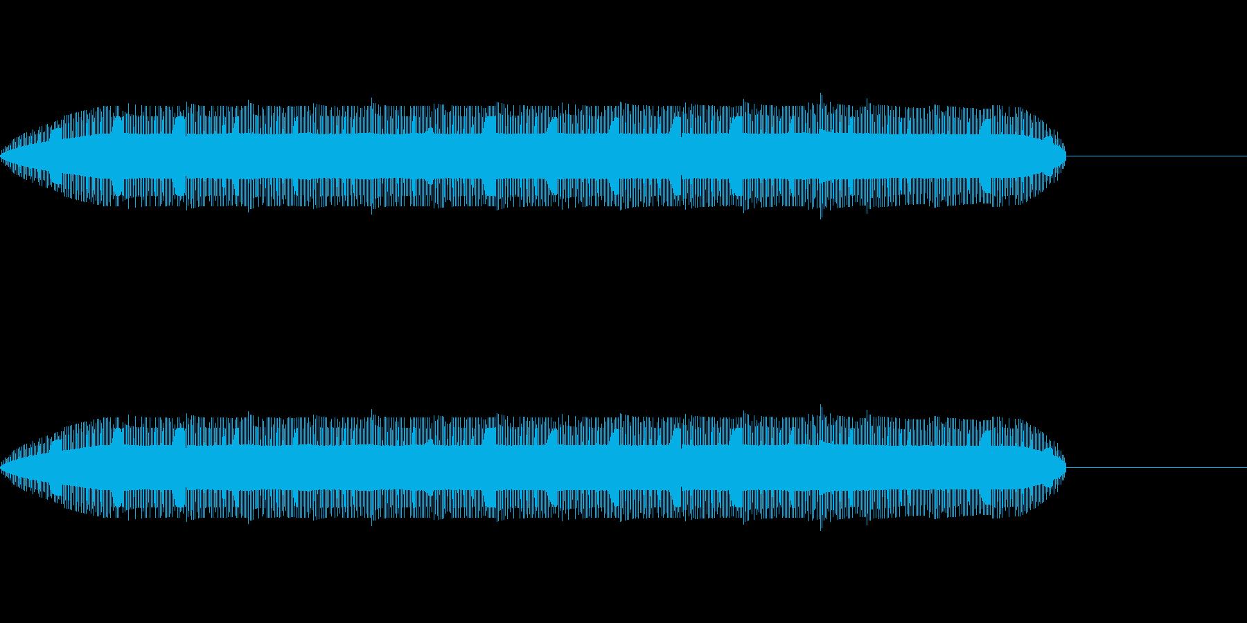 ゲームやアニメに出てくる警告音の再生済みの波形