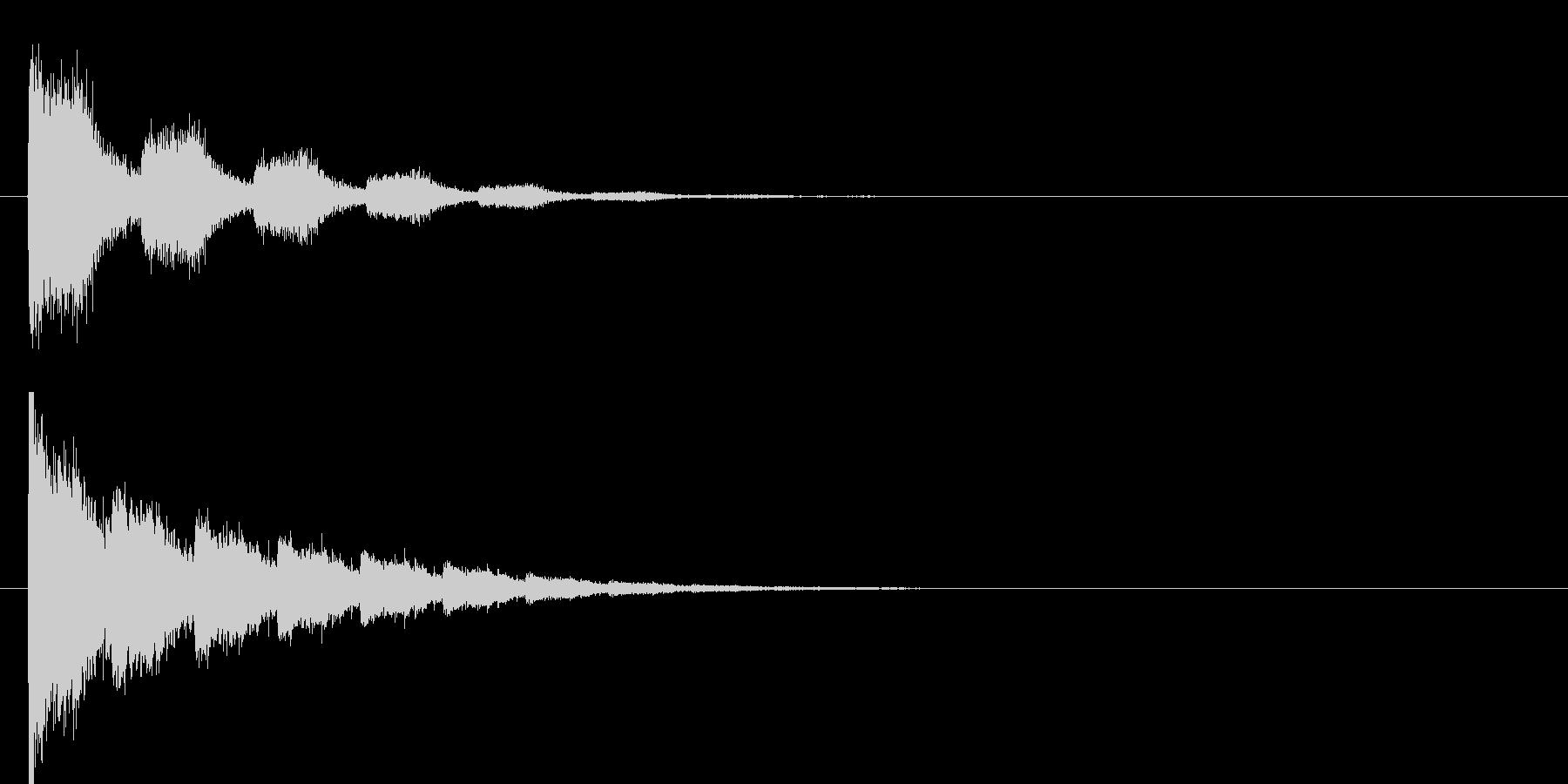 シューン(ビーム音)の未再生の波形