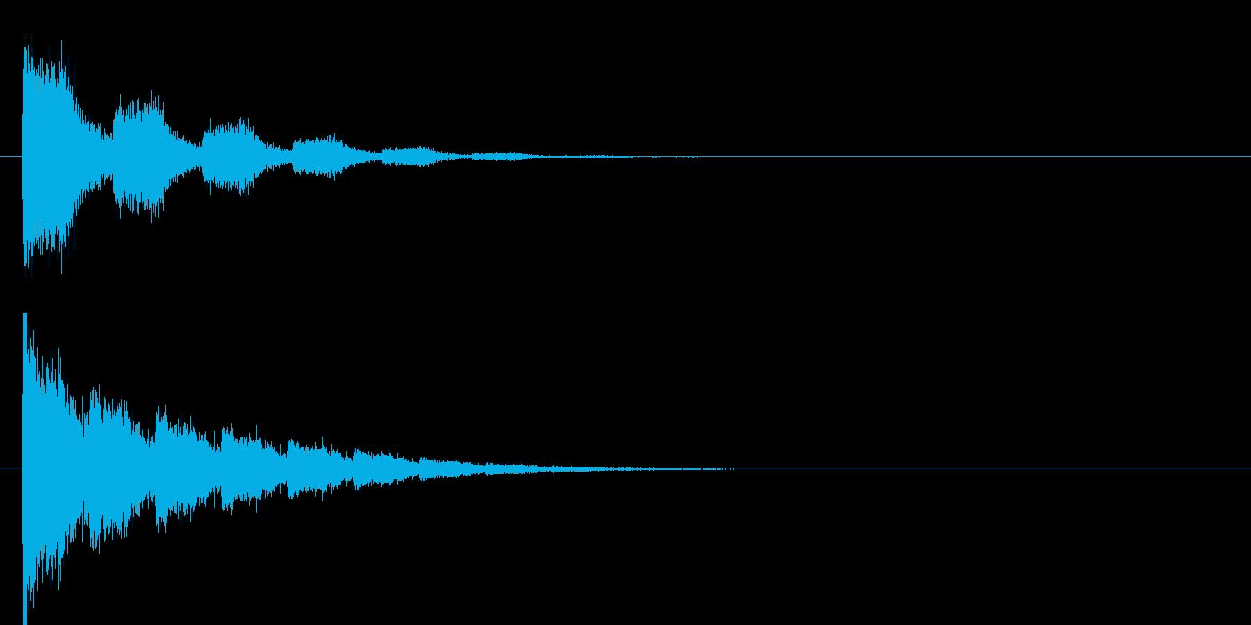 シューン(ビーム音)の再生済みの波形