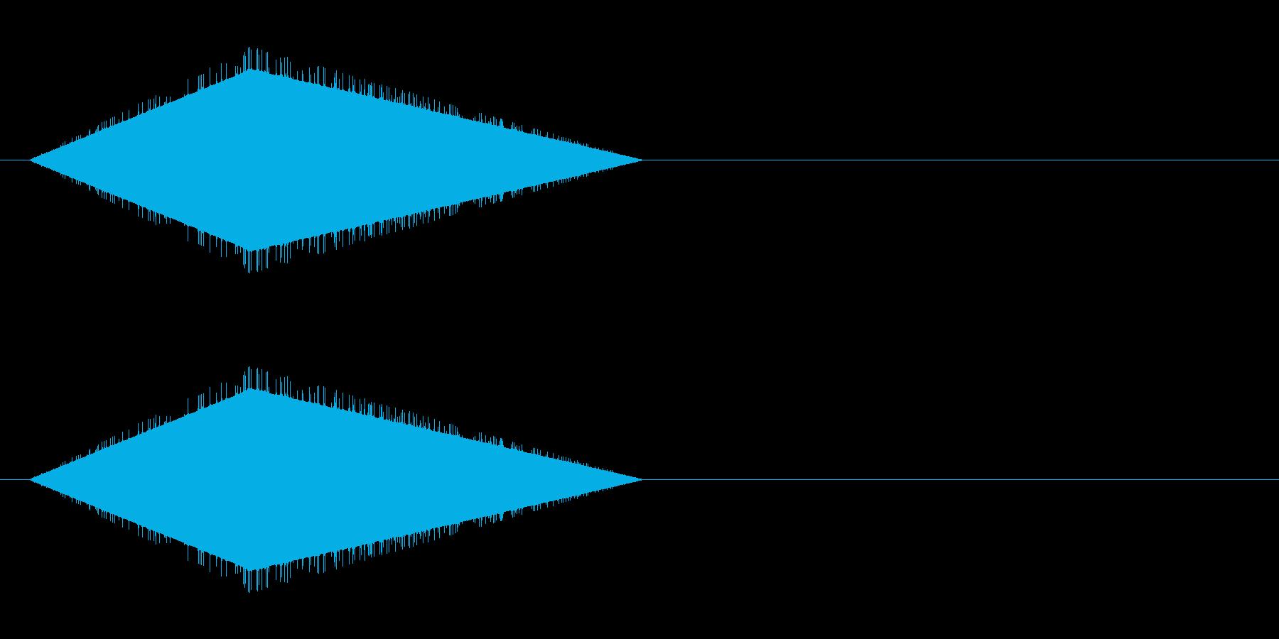 レトロゲーム風・風切り、素振り#5の再生済みの波形