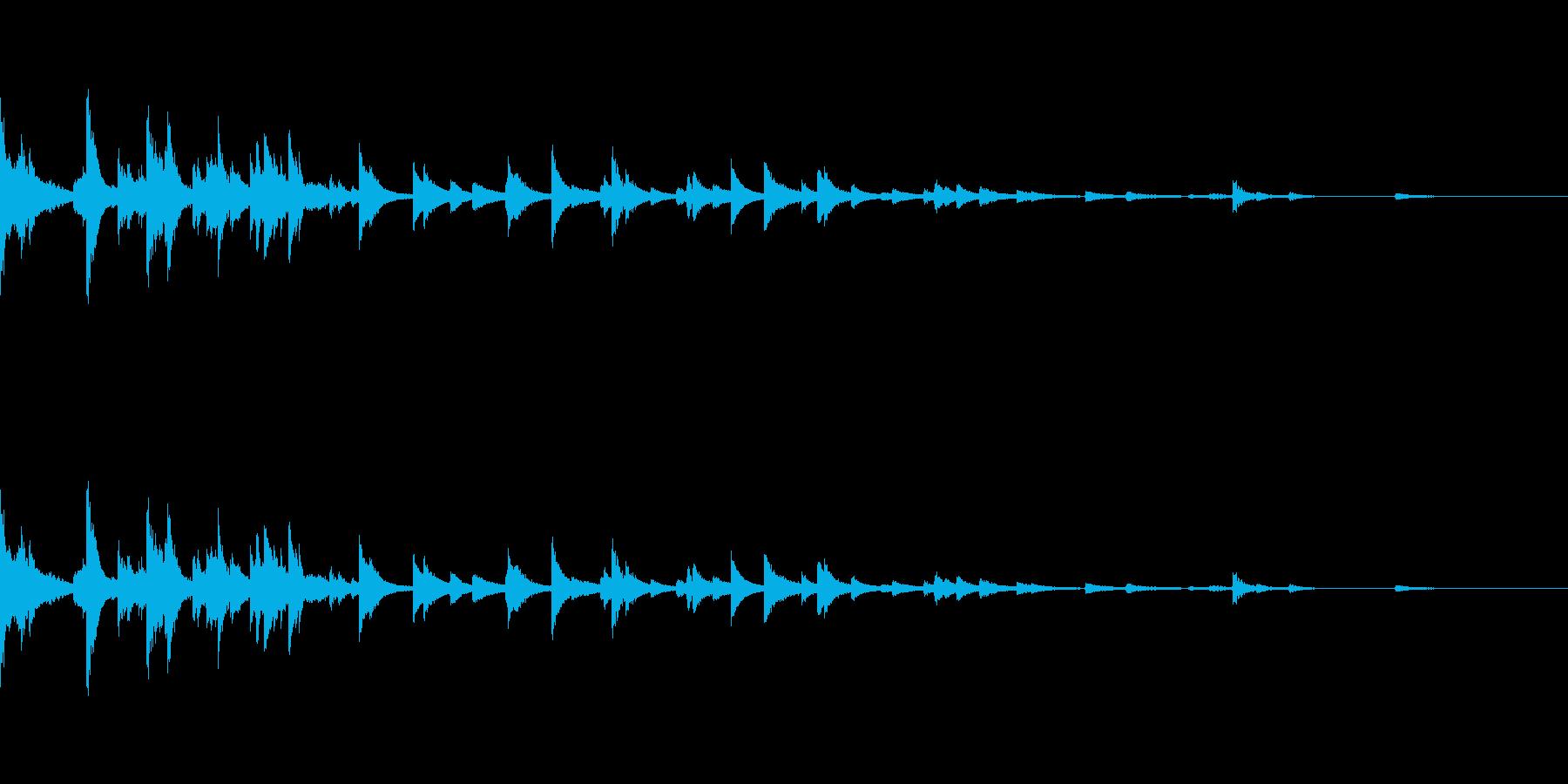 ウィンドチャイムを叩いた音。の再生済みの波形