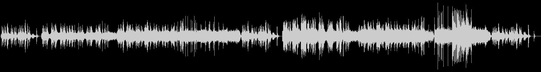 静かな夜のピアノとストリングスのBGMの未再生の波形