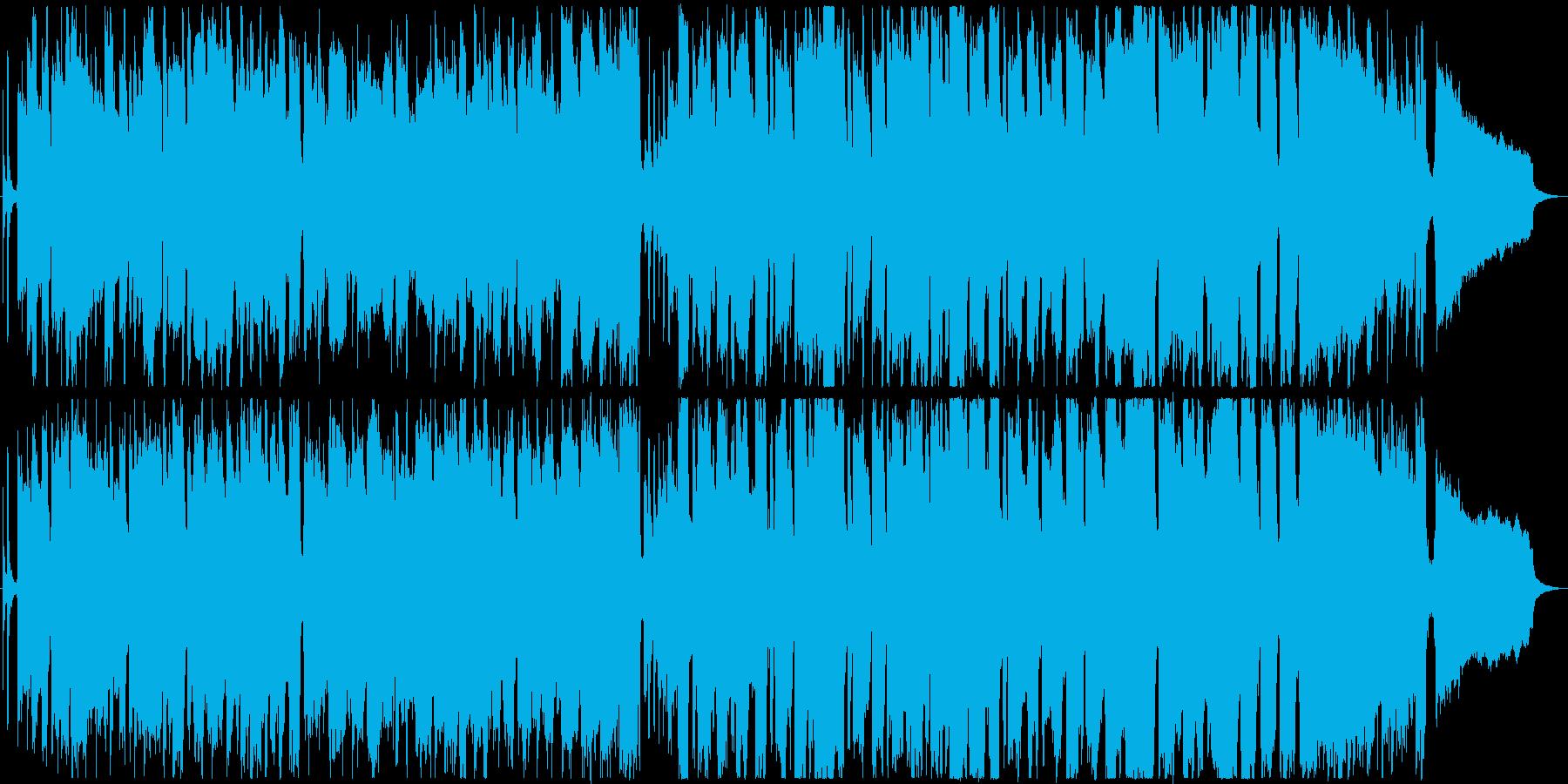 リコーダーがメロの軽快な曲の再生済みの波形