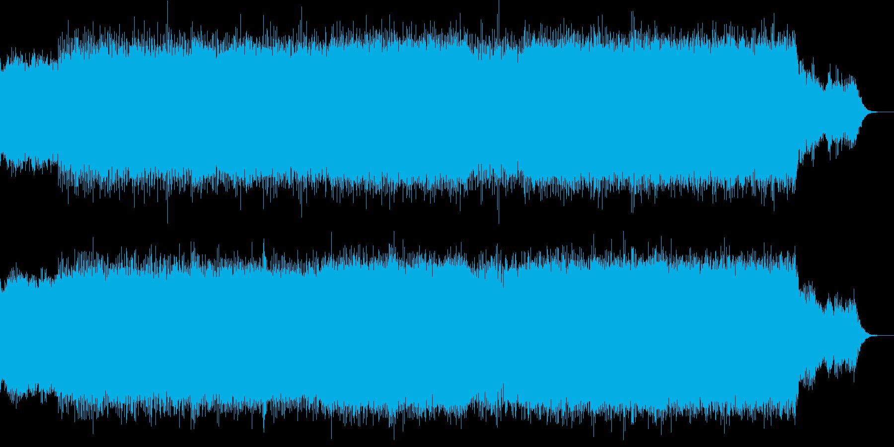 爽やかなギターディレイインストの再生済みの波形