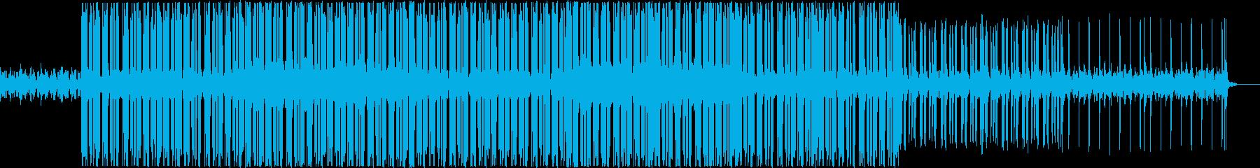 バーチャルな電脳世界の軽快なBGMの再生済みの波形