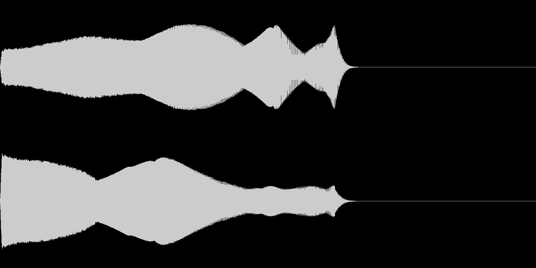 落下音02(電子音系)の未再生の波形