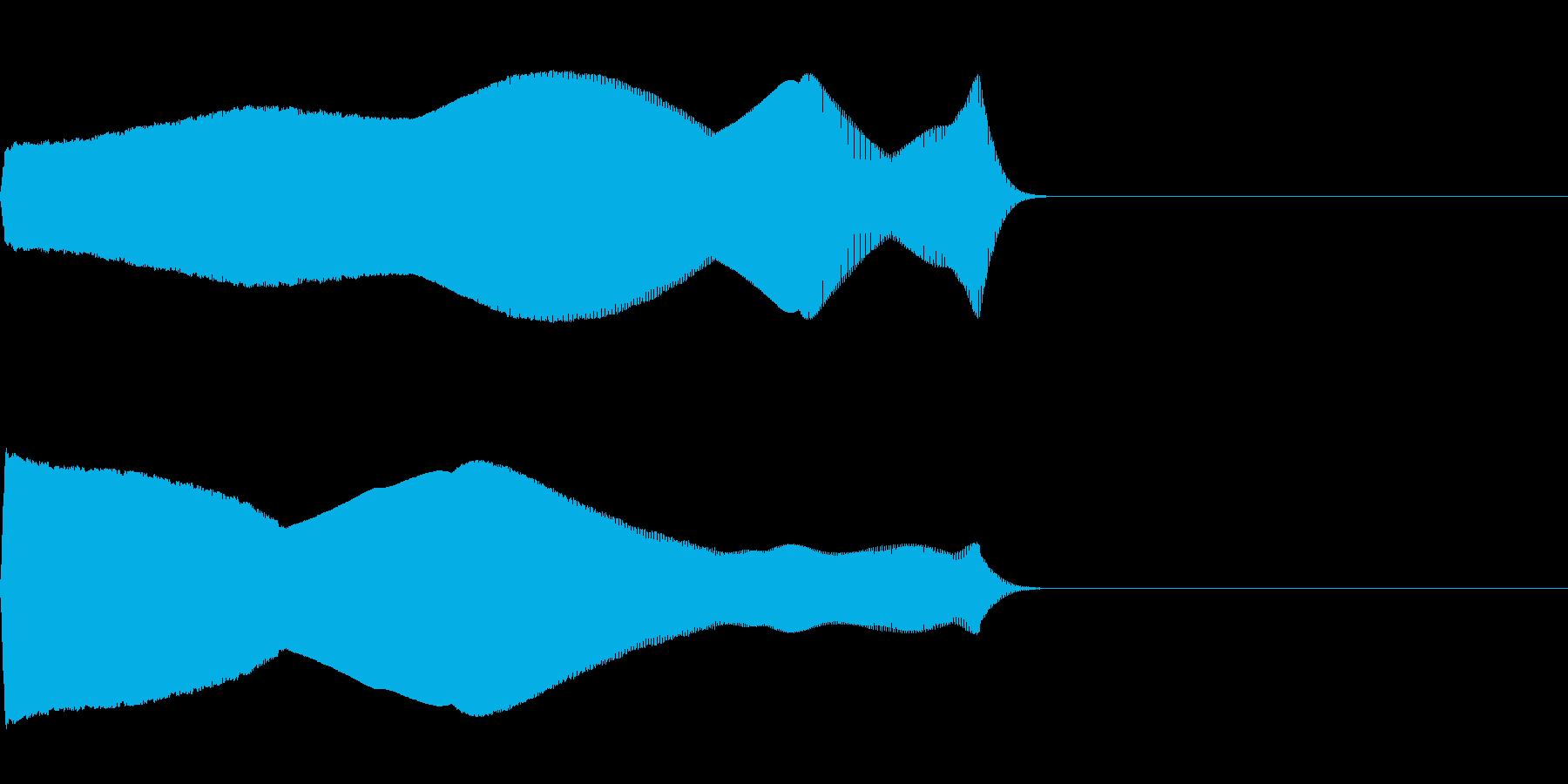 落下音02(電子音系)の再生済みの波形