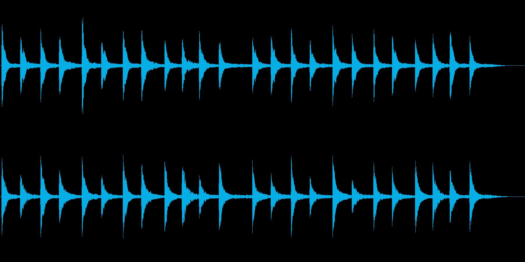 映像に効果的なピアノ+シンセの再生済みの波形