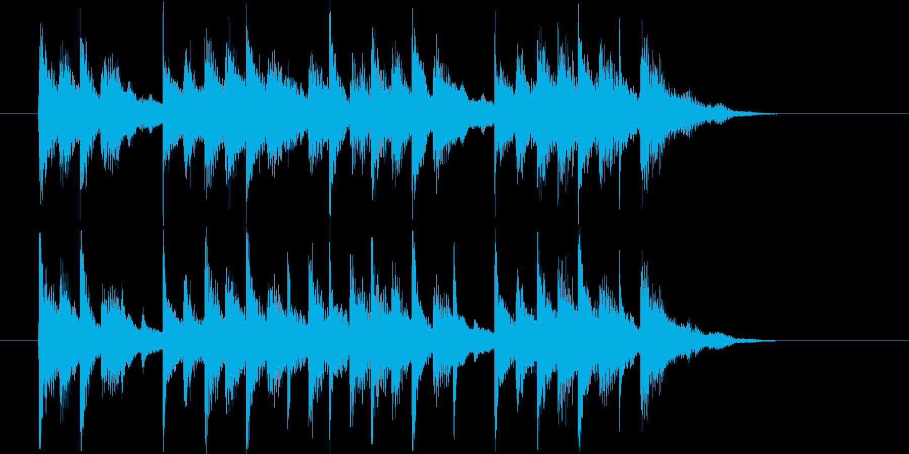 クールでゆったりなバンド演奏のジングル曲の再生済みの波形