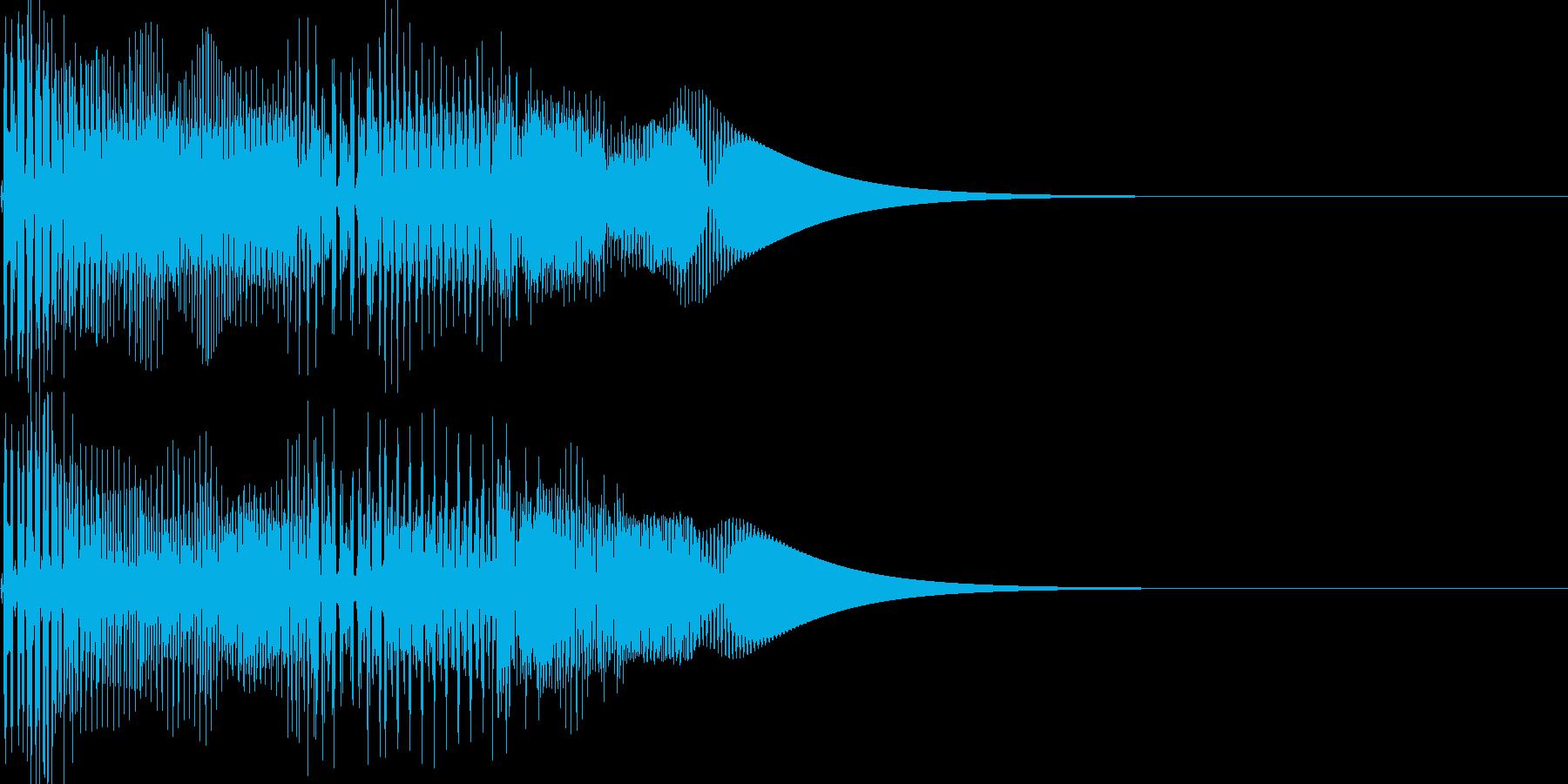 ゲーム系カーソル選択音02 (戻る)の再生済みの波形