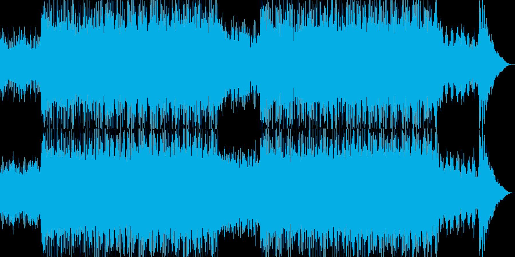 カッコイイ現代的なシンセミュージック02の再生済みの波形