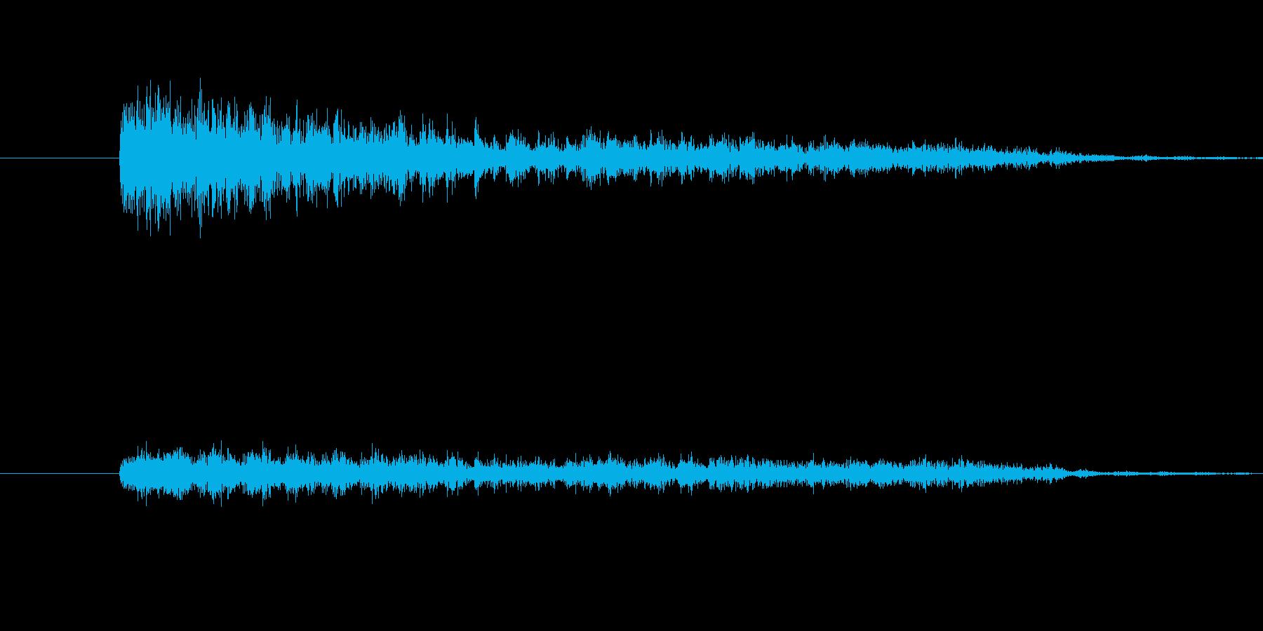 びりびりとなにかがやぶれるような音の再生済みの波形