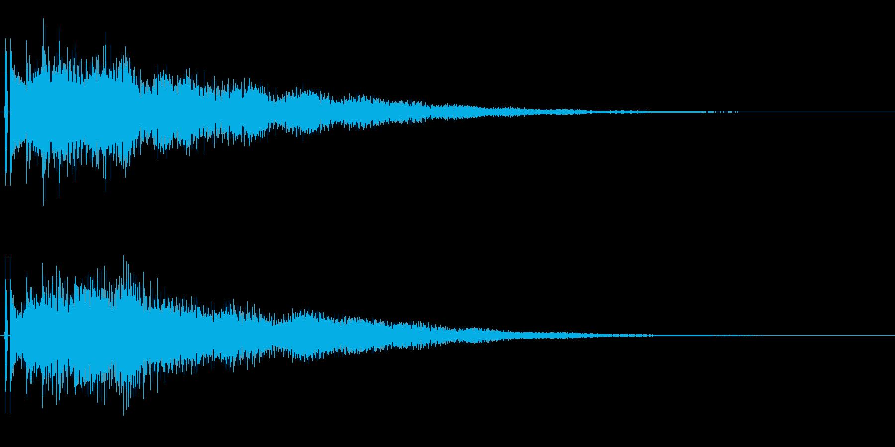 決定音。「タラララーン」の再生済みの波形