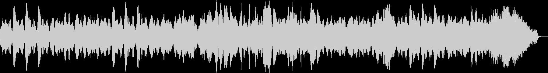 フルートとチェンバロのオリジナルバロックの未再生の波形