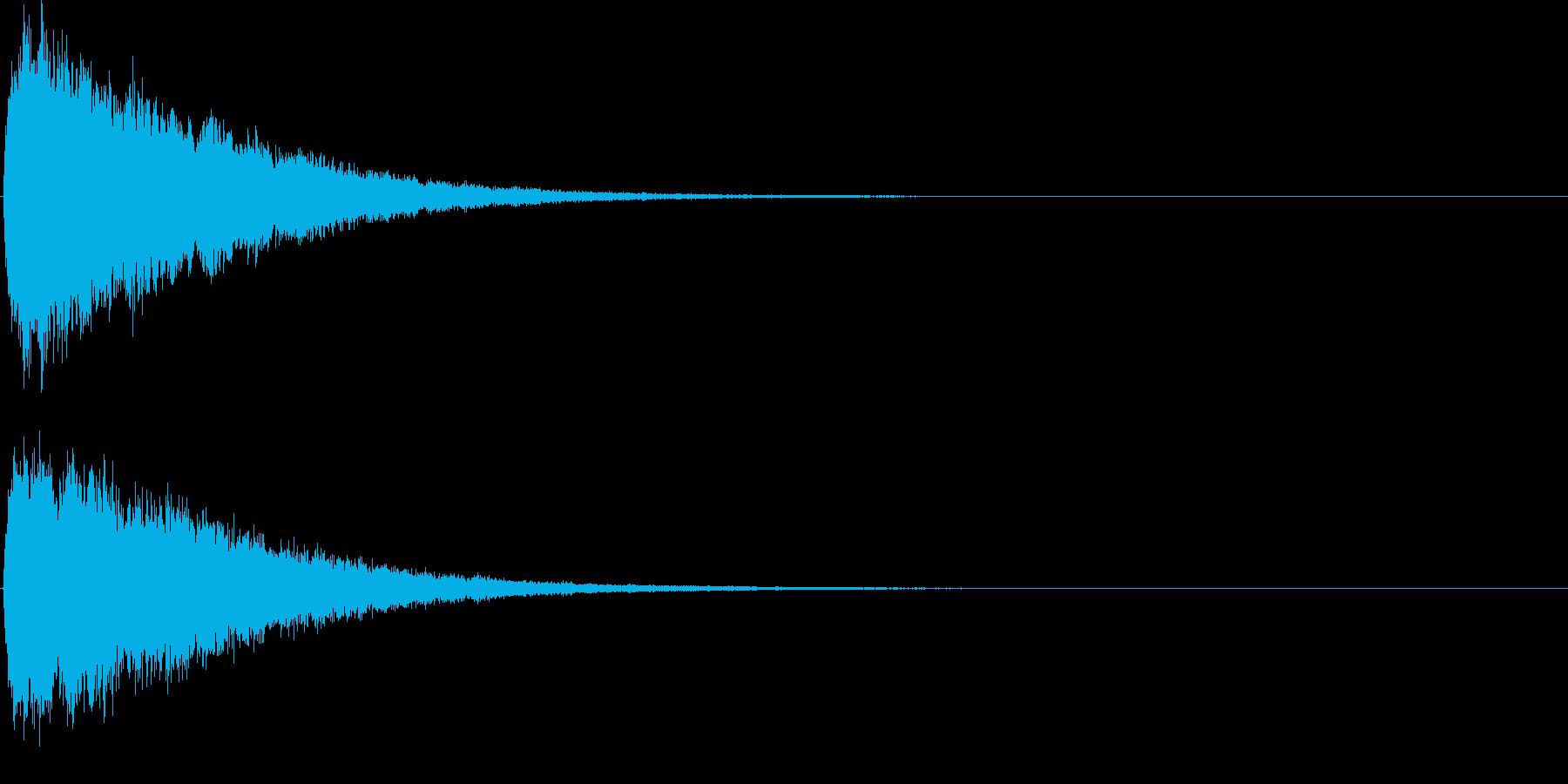 パーン。気がつく・思い出す音Bの再生済みの波形