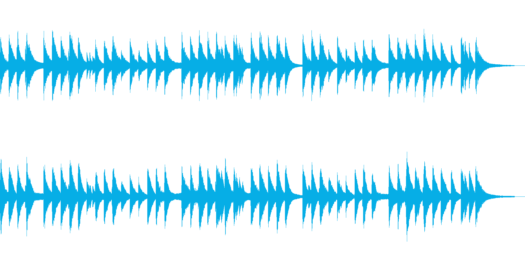 気持ちが通じ合うようなあたたかなピアノ曲の再生済みの波形
